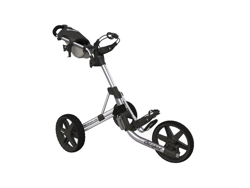 CLICGEAR 3.5+ golfový vozík stříbrný  + Velké balení týček 20 ks