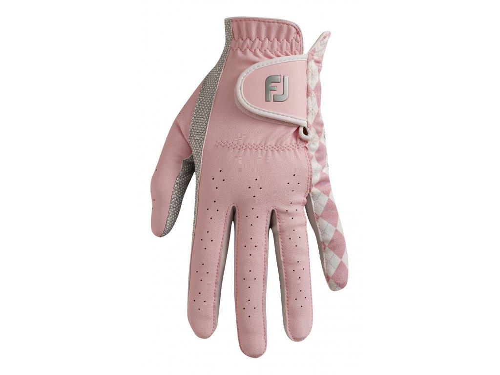 FOOTJOY dámská rukavice Attitudes růžovo-bílá (Velikost rukavic S)