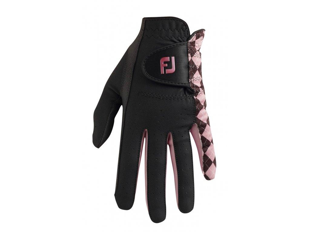 FOOTJOY dámská rukavice Attitudes černo-růžová (Velikost rukavic S)
