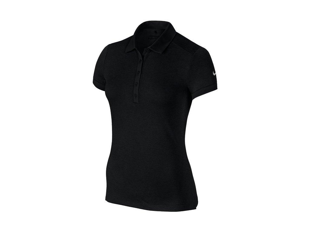 NIKE dámské tričko Icon Heather Polo černé (Velikost oblečení M)