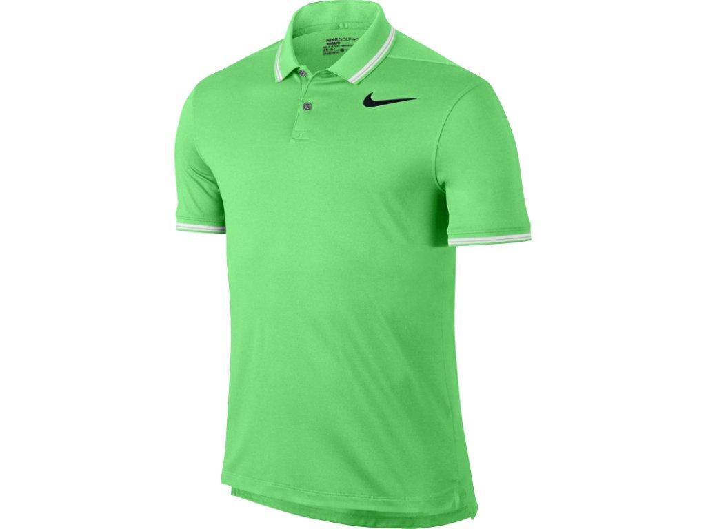 NIKE pánské tričko Dry Tipped Polo zelené (Velikost oblečení XXL)