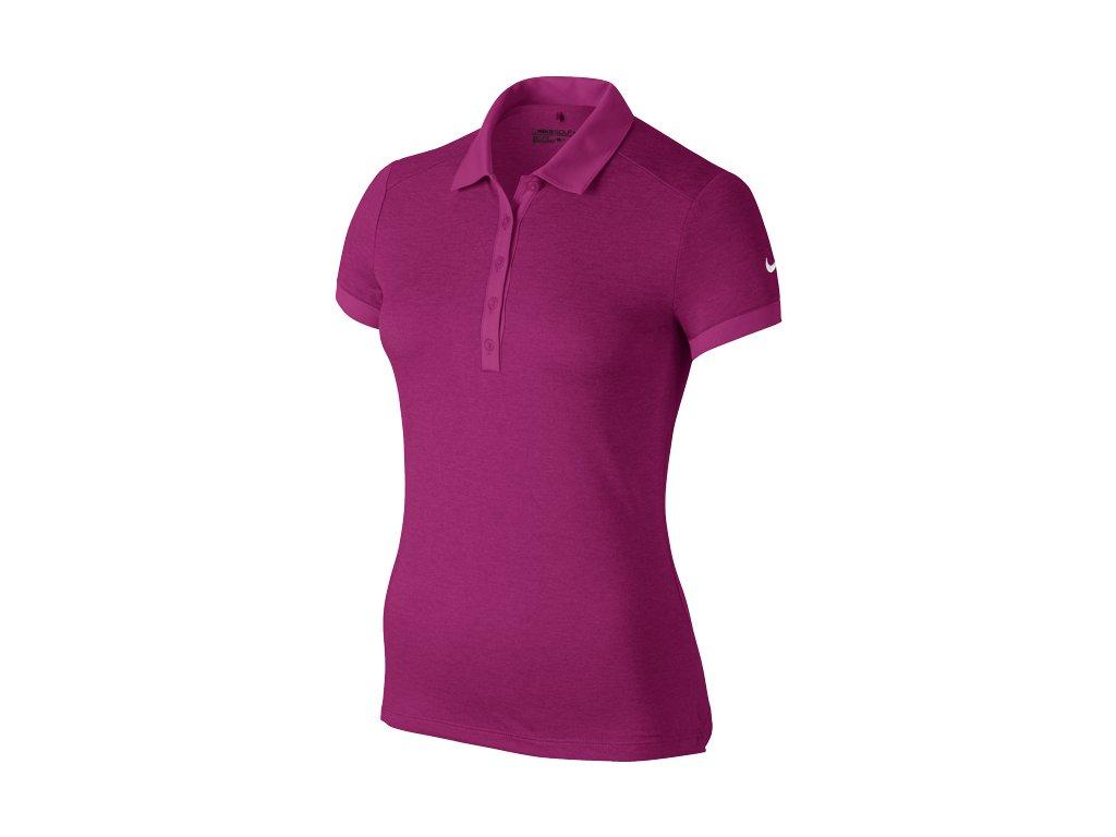 NIKE dámské tričko Icon Heather Polo fialové (Velikost oblečení L)