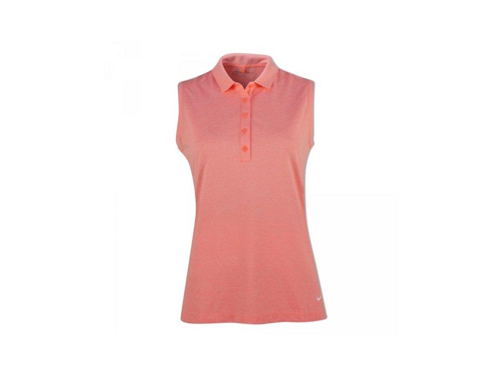 NIKE dámské tričko Icon Heather Polo lososové (Velikost oblečení XS)