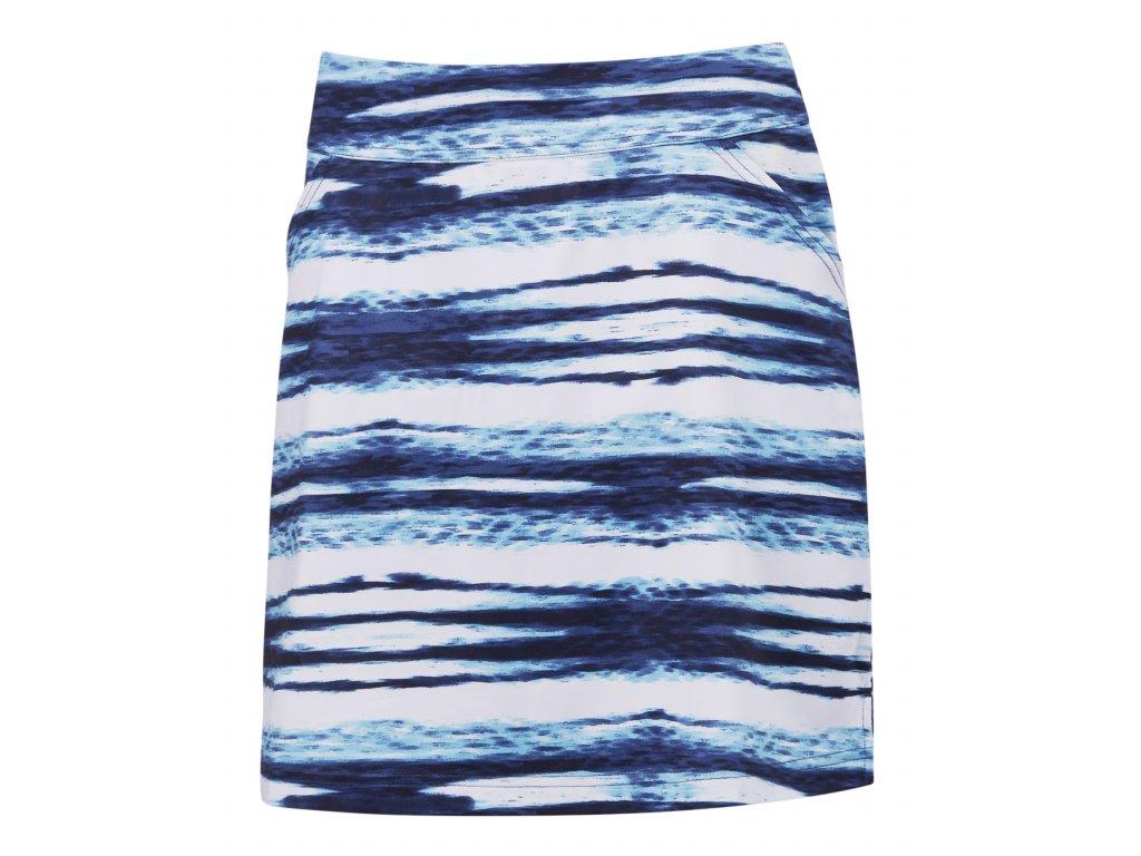 CALLAWAY dámská sukně Water Ripples modro-bílá zepředu