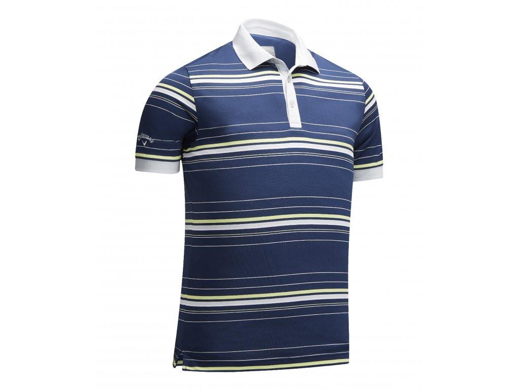 CALLAWAY pánské tričko Stripe modro-zelené zepředu