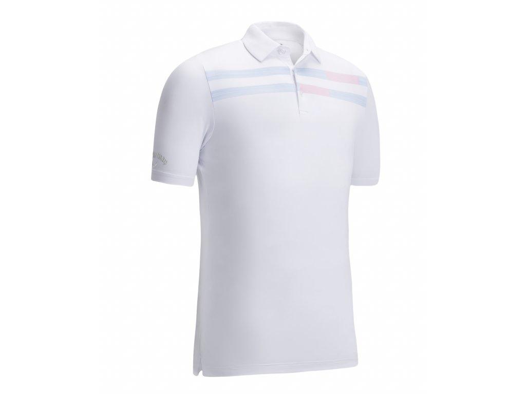 CALLAWAY pánské tričko Linear Printed bílé zepředu
