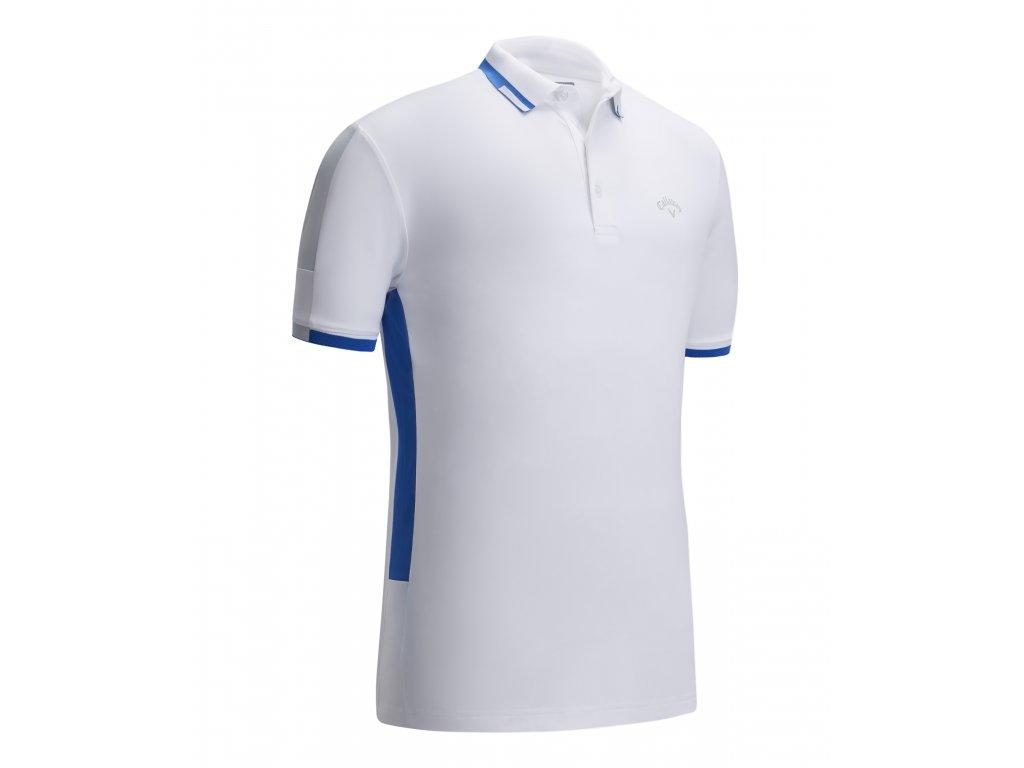 CALLAWAY pánské tričko Modern Colour Block bílé zepředu
