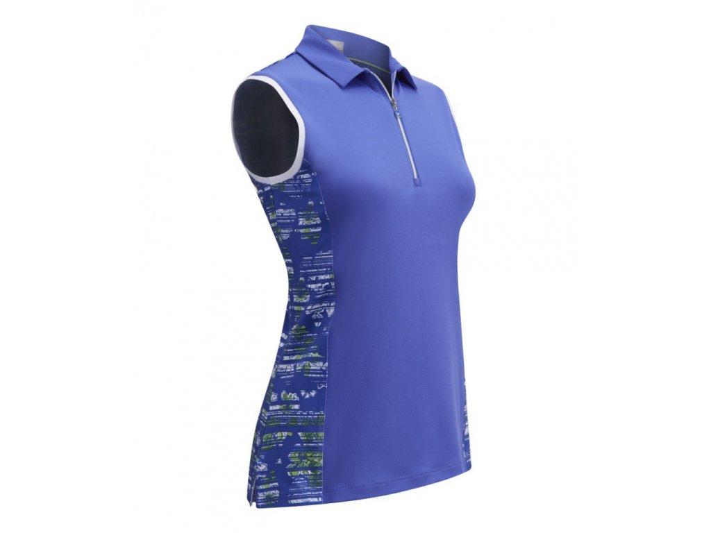 CALLAWAY dámské tričko Stainglass Floral modré  zepředu