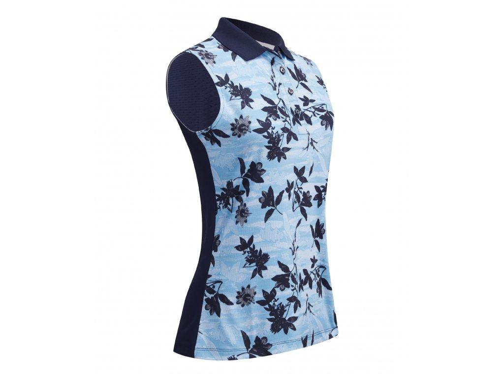 CALLAWAY dámské tričko Honey Comb Floral modré zepředu
