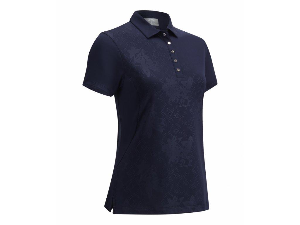 CALLAWAY dámské tričko Embossed Floral modré zepředu