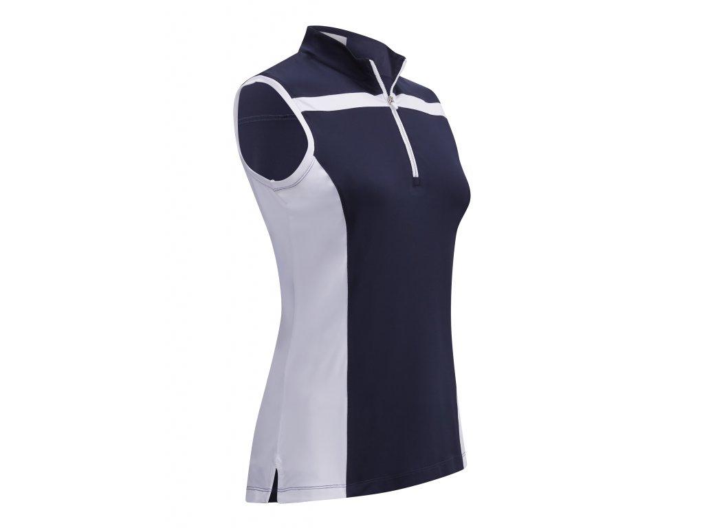 CALLAWAY dámské tričko  3 Colour Block modré zepředu