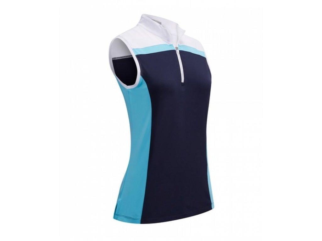 CALLAWAY dámské tričko  3 Colour Block modro-bílé zepředu