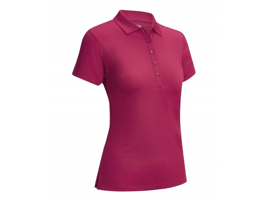 CALLAWAY dámské tričko Micro Hex červeno-růžové zepředu