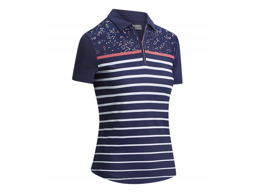 CALLAWAY dámské tričko Confetti Print modré zepředu