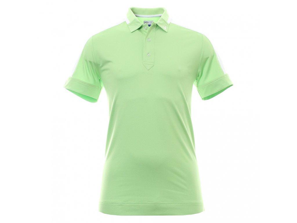 CALLAWAY pánské tričko Shoulder Block Polo zelené