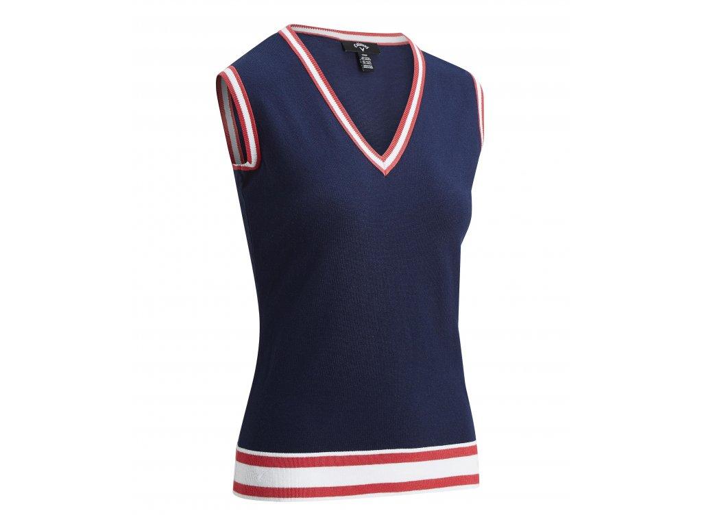 CALLAWAY dámská vesta Knit modrá zepředu