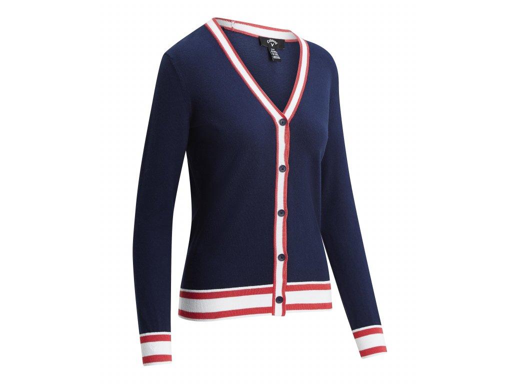 CGGF9054 403 1CALLAWAY dámský svetr Knit Cardigan modrý