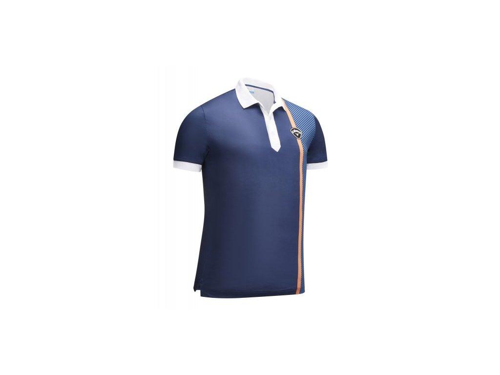 Callaway Bold Linear Print pánské golfové triko, tmavě modré