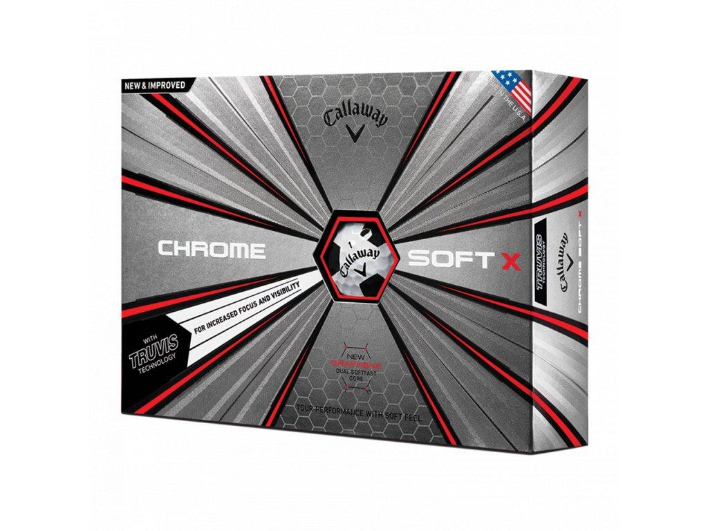 CALLAWAY Chrome Soft X 18 Truvis golfové míčky bílo-černé (12 ks)