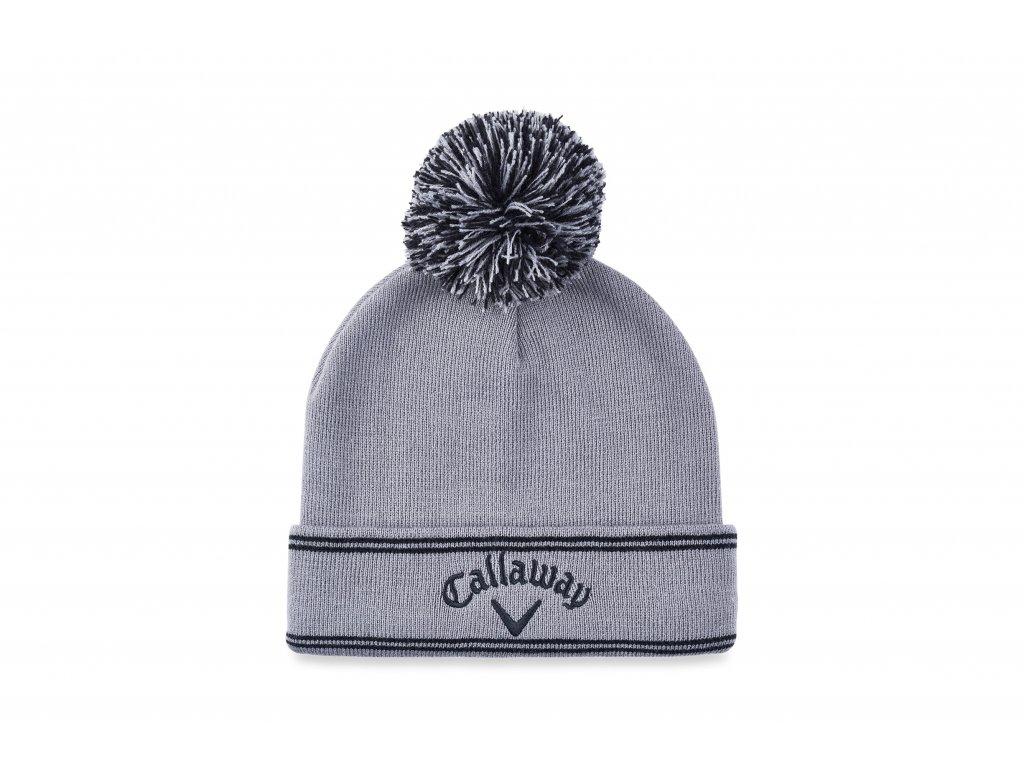 CALLAWAY zimní čepice Classic šedá zepředu