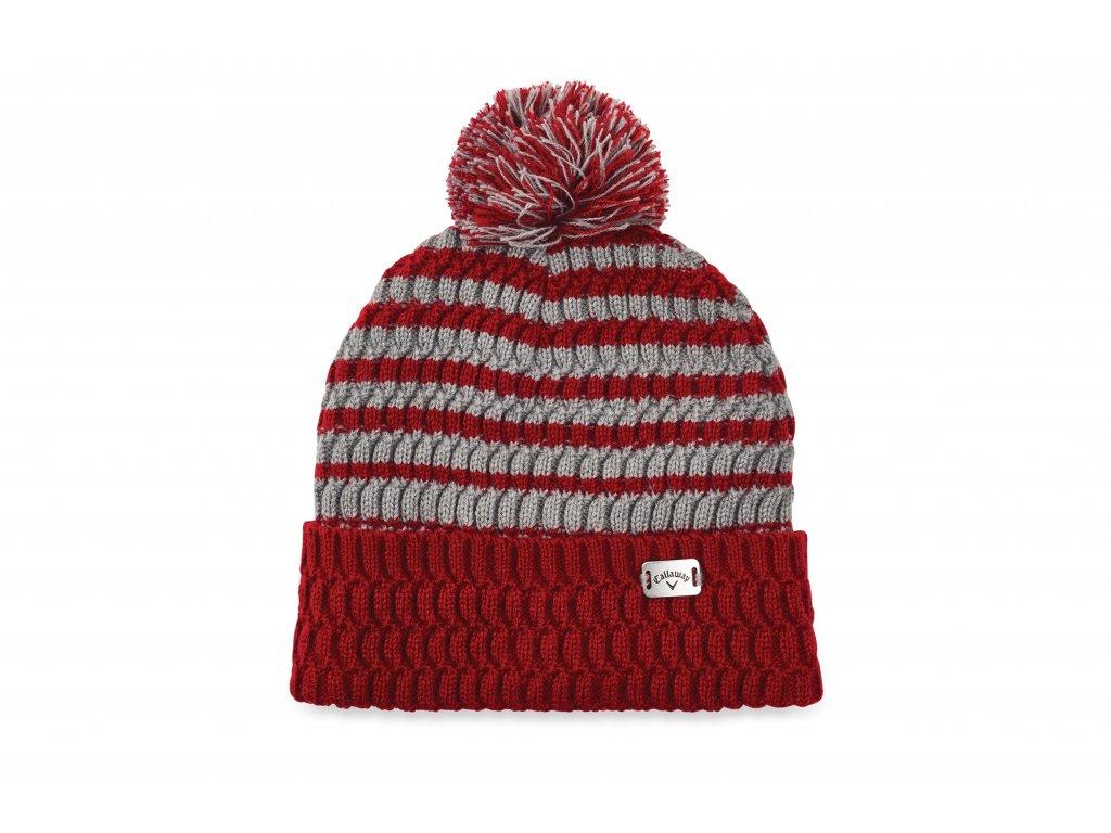 CALLAWAY zimní čepice Pom Pom červená