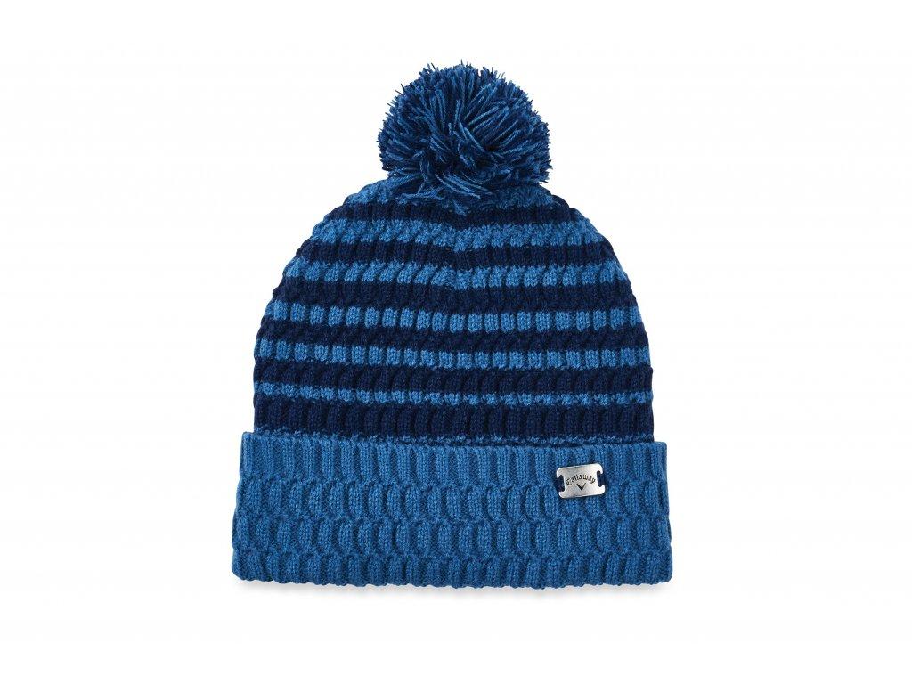 CALLAWAY zimní čepice Pom Pom modrá