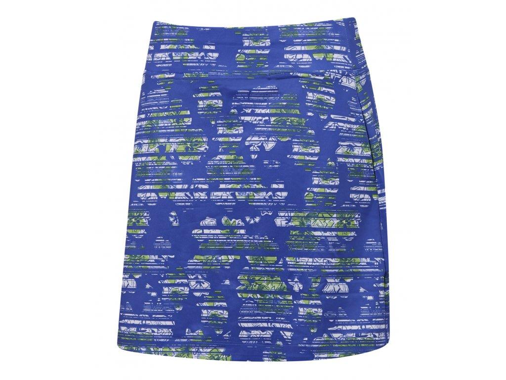 CALLAWAY dámská sukně Stanglass Floral modro-zelená zepředu