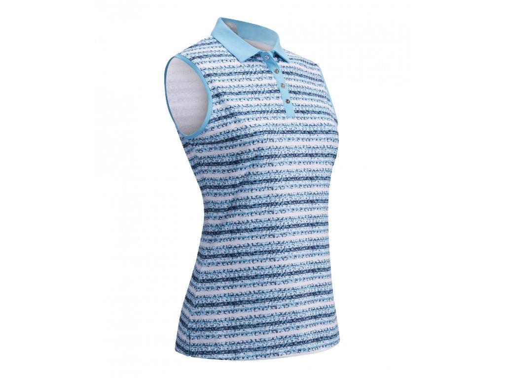 CALLAWAY dámské tričko Crystal Stripe Printed modré zepředu