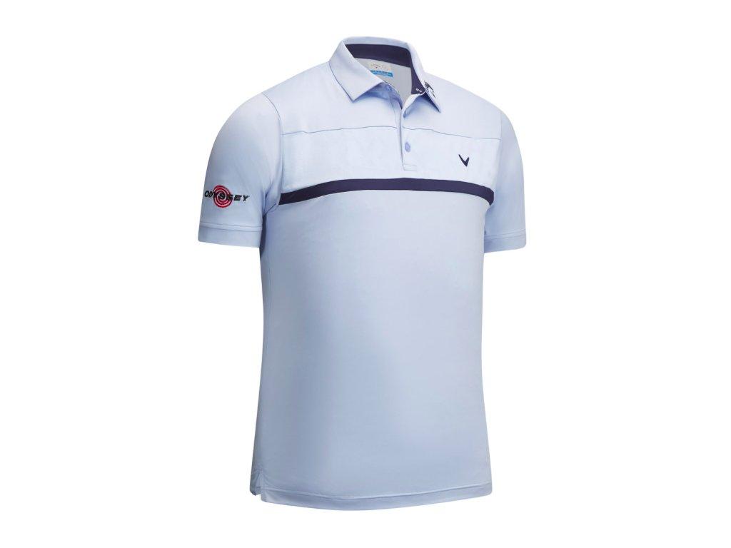 CALLAWAY pánské tričko Premium Tour světle modré zepředu