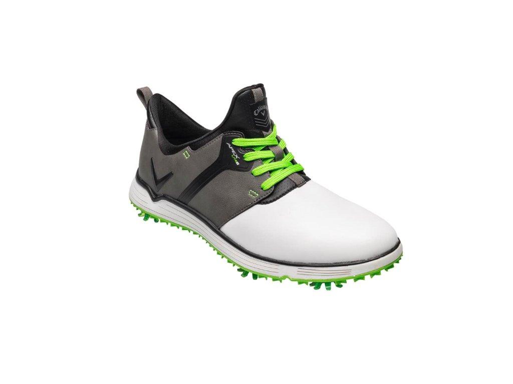 CALLAWAY M571-55 Apex Lite S pánské golfové boty šedo-bílé zepředu
