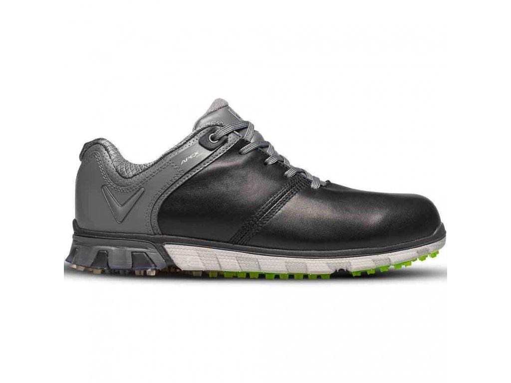 CALLAWAY M570-324 Apex Pro pánské golfové boty černo-šedé z boku