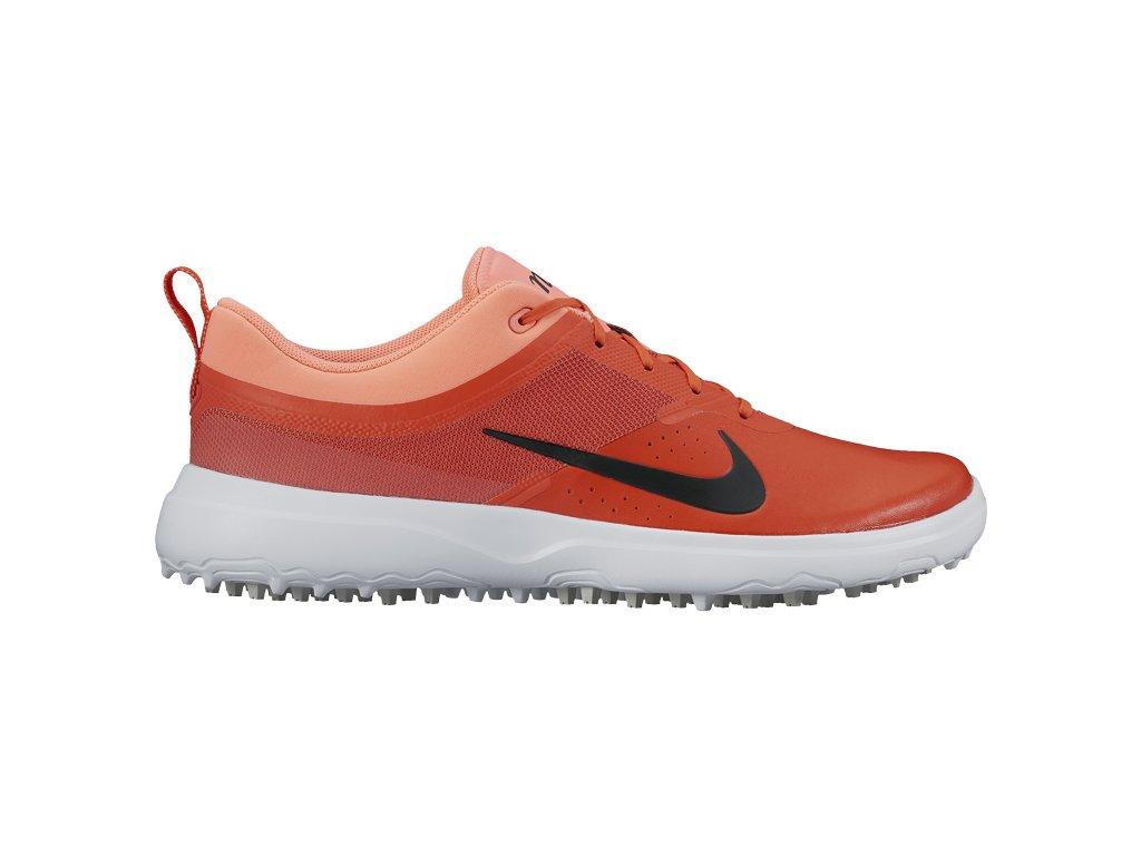 NIKE dámské golfové boty Akamai červeno-oranžové