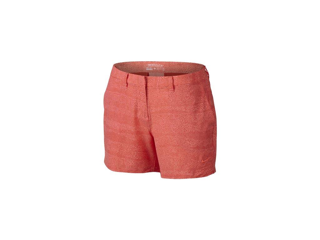 "NIKE dámské kraťasy Golf Printed 4.5"" červeno-oranžové (Velikost oblečení 40)"