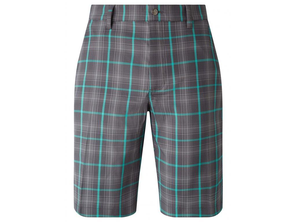 CALLAWAY kraťasy Plaid Printed Short šedo-zelené (Velikost oblečení 38)