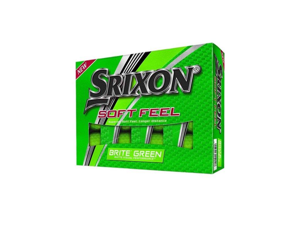 golfové míčky srixon soft fee brite zelené