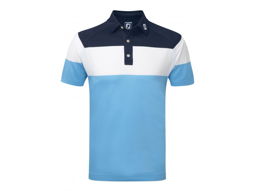 FOOTJOY pánské triko Raglan Chest Stretch modro-bílé (Velikost oblečení XXL)