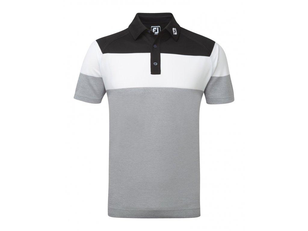 FOOTJOY pánské triko Raglan Chest Stretch šedo-černo-bílé (Velikost oblečení XXL)