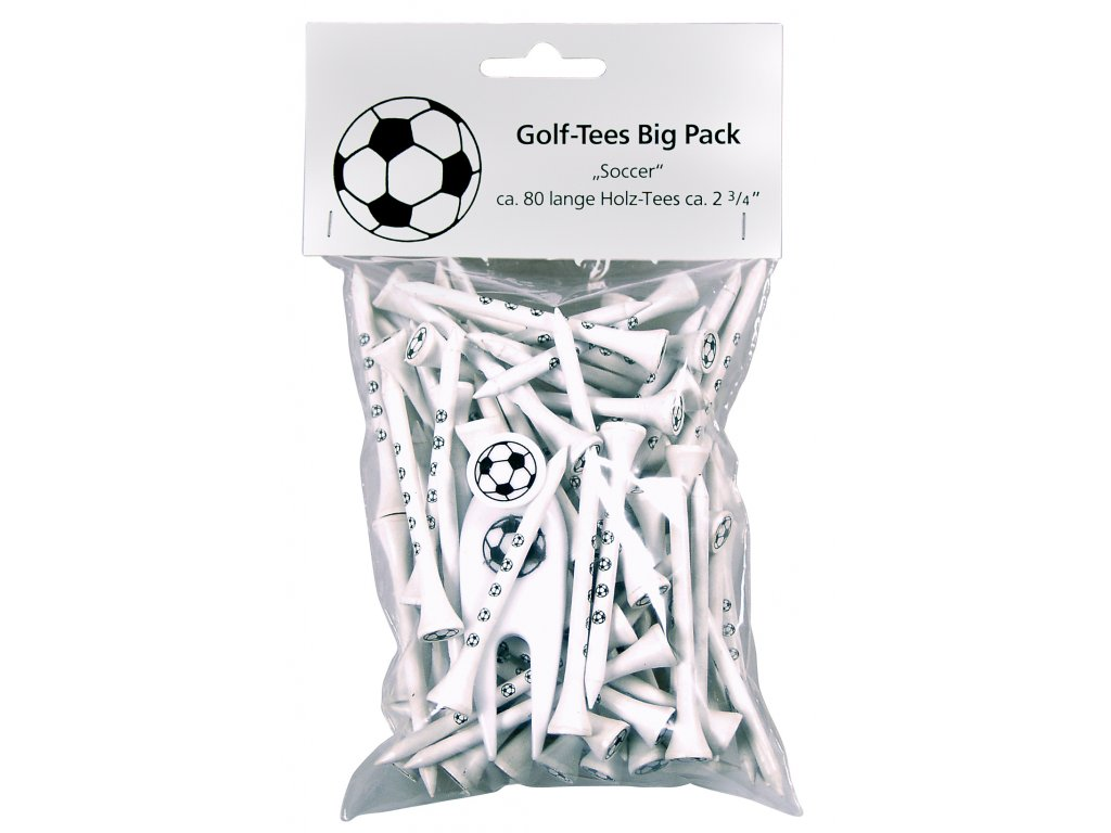 SPORTIQUES dárkové balení dlouhých bílých Tees míč