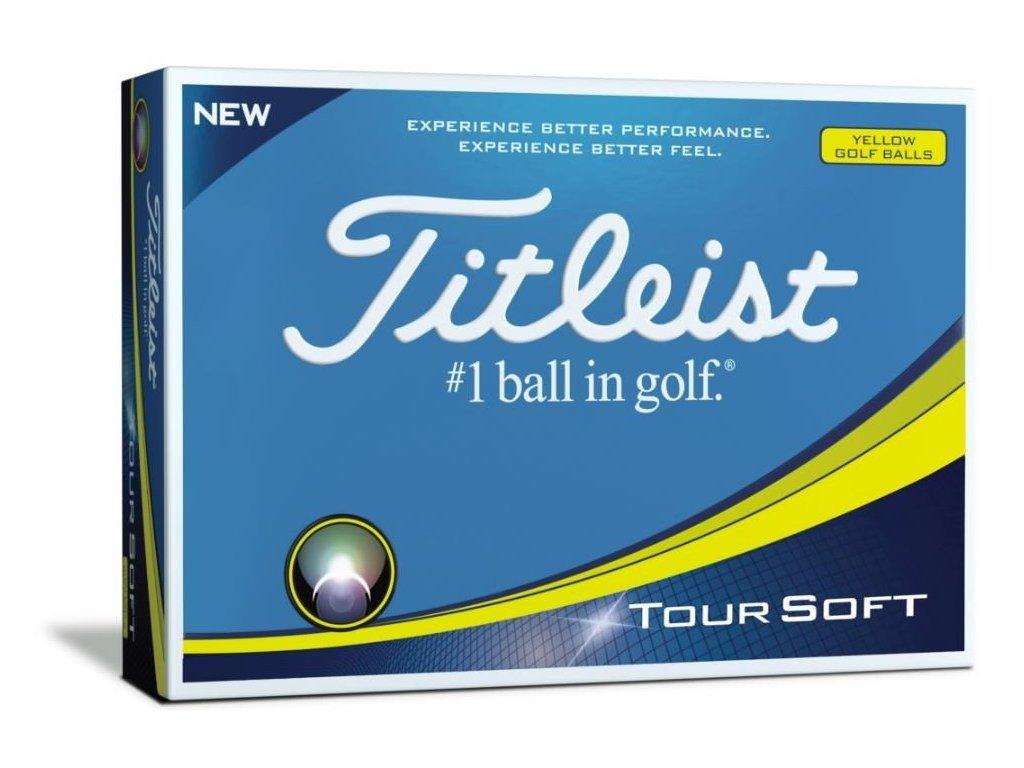 TITLEIST Tour Soft golfové míčky žluté (12 ks)