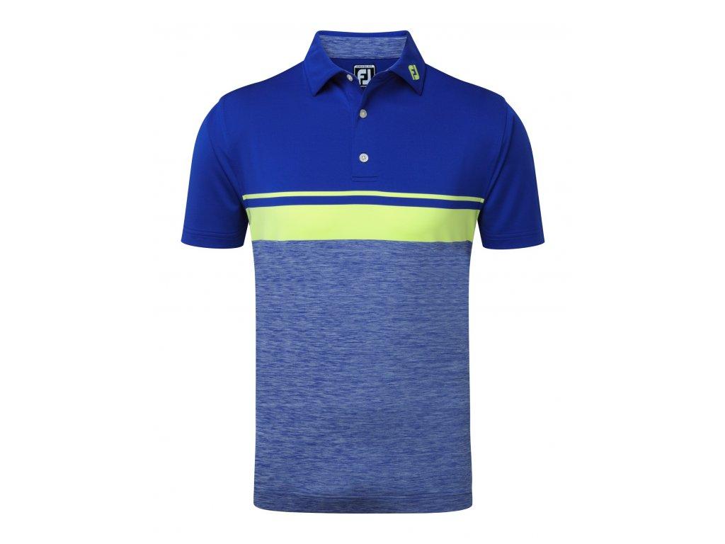 FOOTJOY pánské tričko Stretch Lisle modro-zelené (Velikost oblečení XXL)