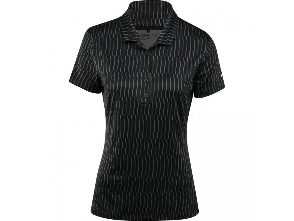 NIKE dámské tričko Icon Print Polo černé (Velikost oblečení L)
