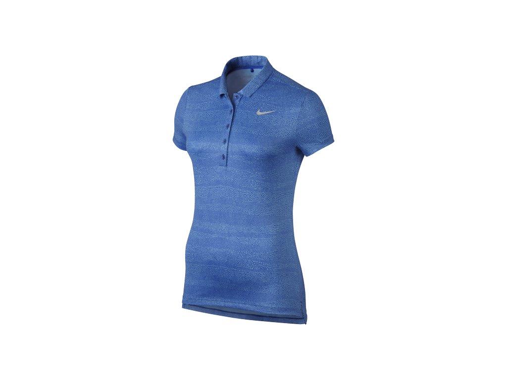 NIKE dámské tričko Zebra Print Polo modré (Velikost oblečení L)