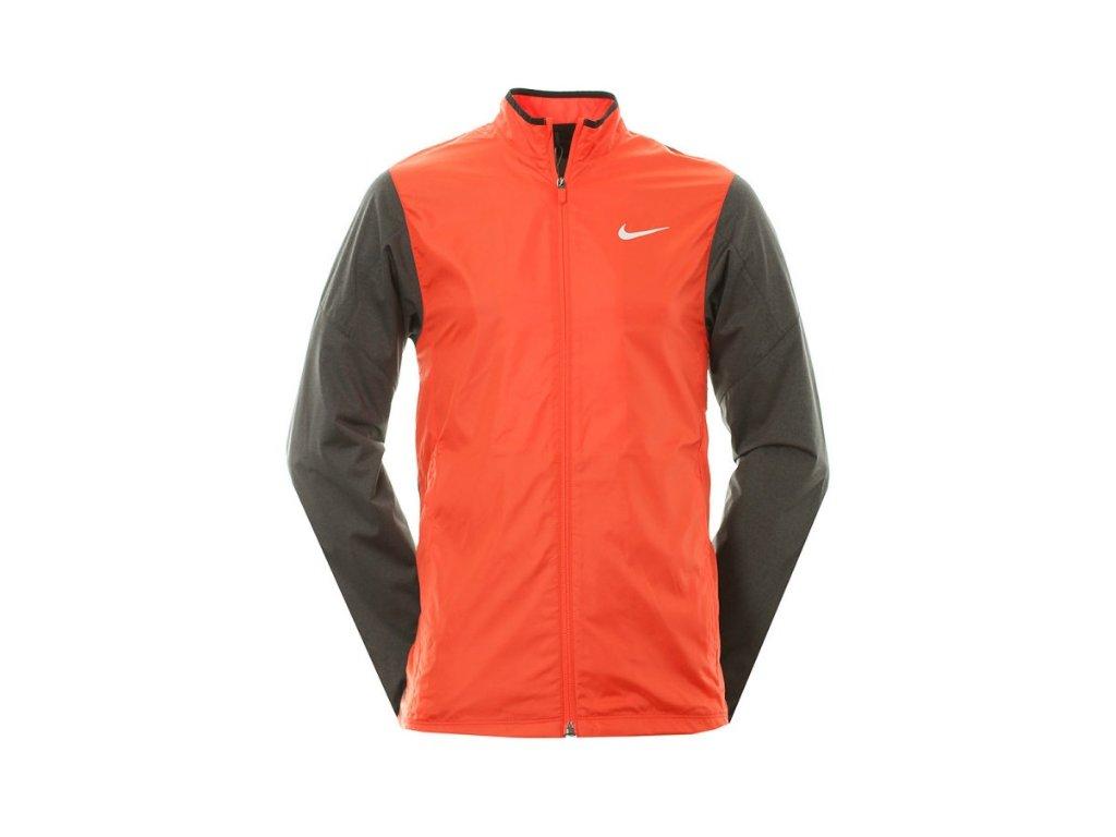 NIKE pánská Golf Full-Zip Shield červeno-oranžová (Velikost oblečení M)