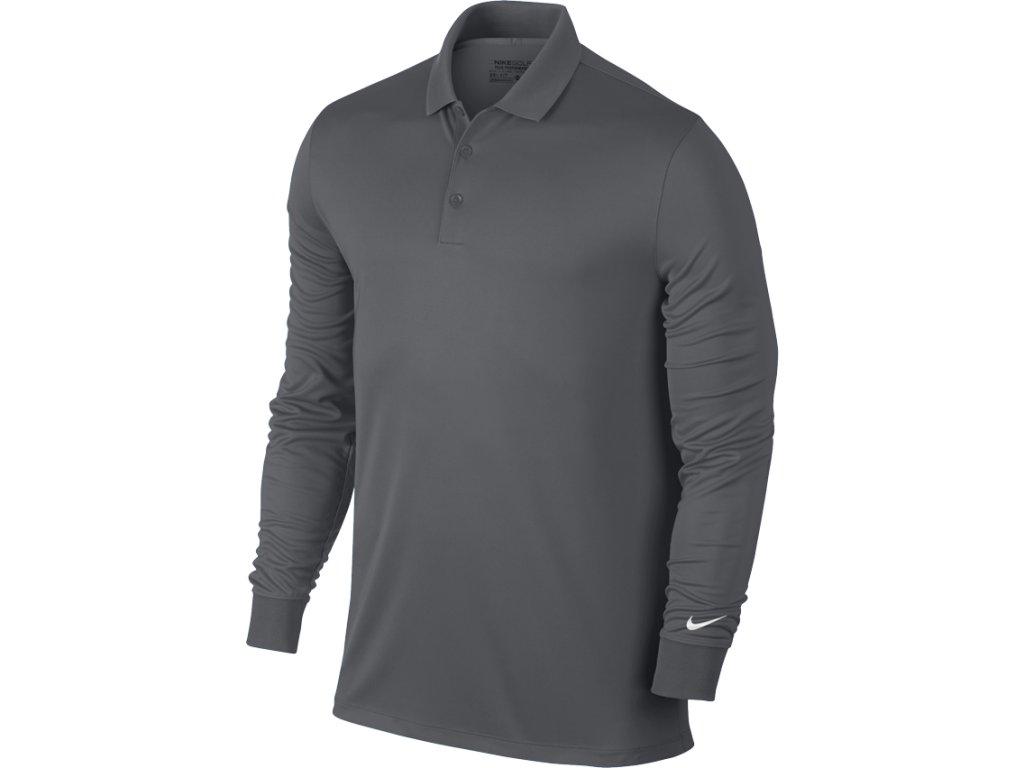 NIKE pánské tričko Victory L/S šedé (Velikost oblečení M)