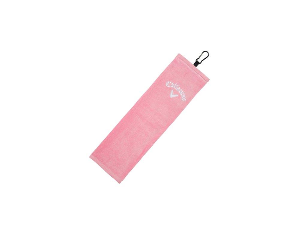 CALLAWAY ručník Tri-fold růžový
