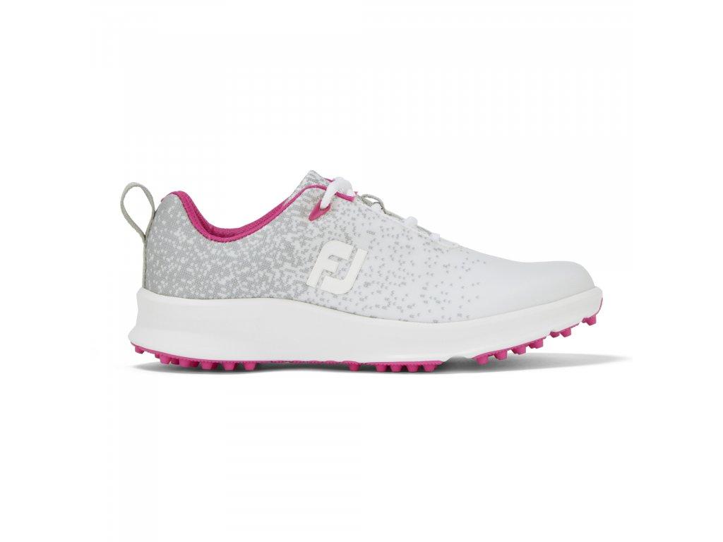 FOOTJOY dámské boty Leisure stříbrno/bílo/růžová -z prava
