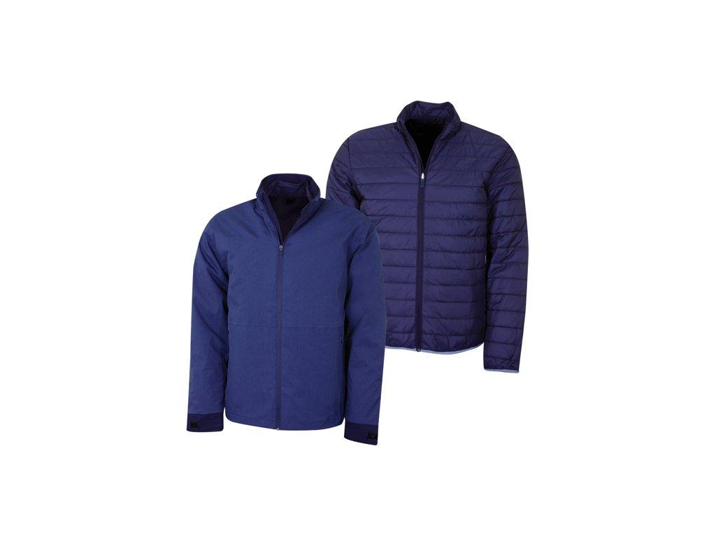 CALLAWAY Waterproof Modular pánská golfová bunda tmavě modrá obě