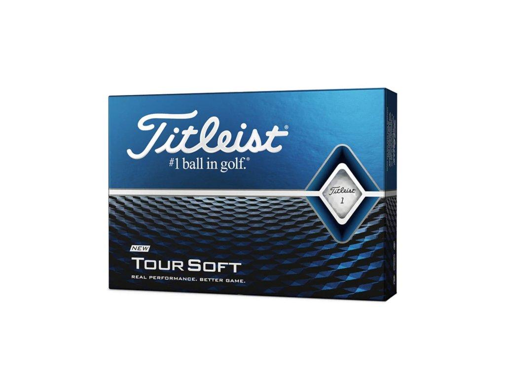 TITLEIST Tour Soft pánské golfové míčky bílé-dozen