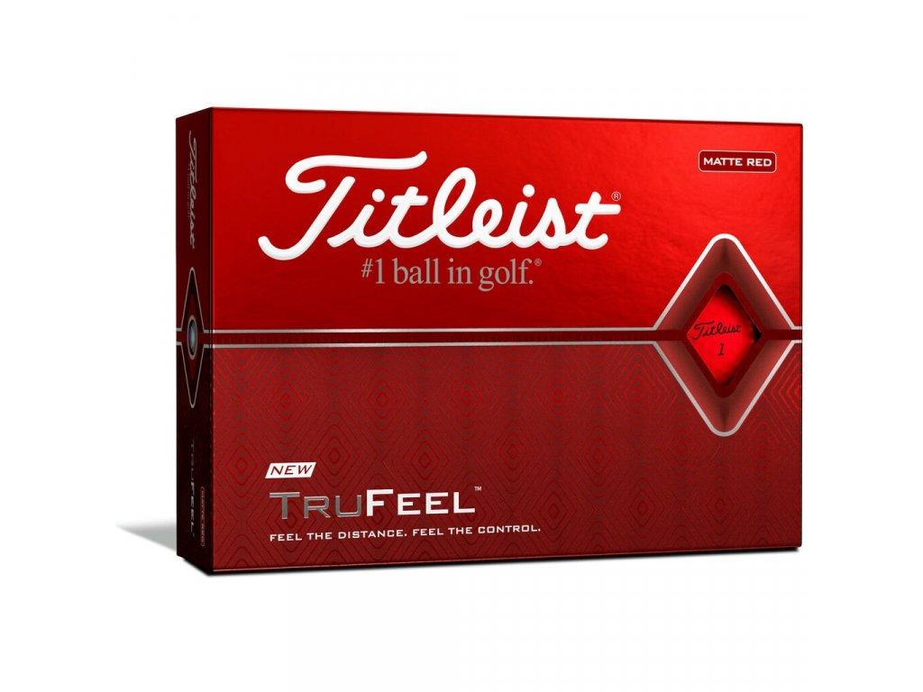 TITLEIST Trufeel pánské golfové míčky červené