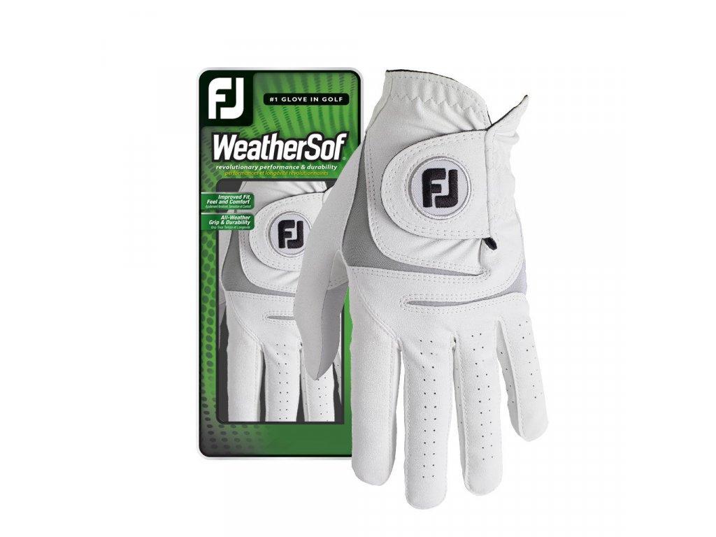 FOOTJOY WeatherSof pánská golfová rukavice na levou ruku bílo-šedá